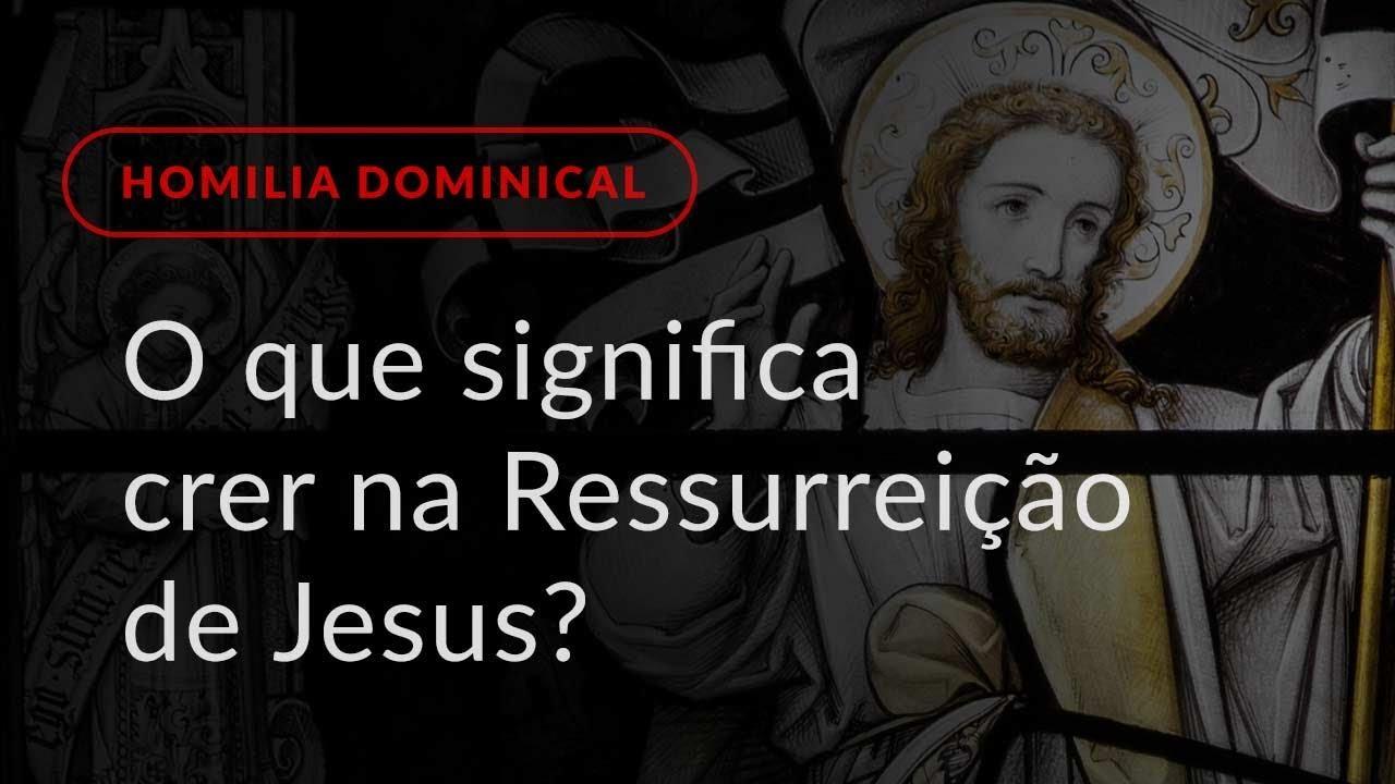 O que significa crer na Ressurreição de Jesus? (Homilia Dominical.449: Domingo de Páscoa)