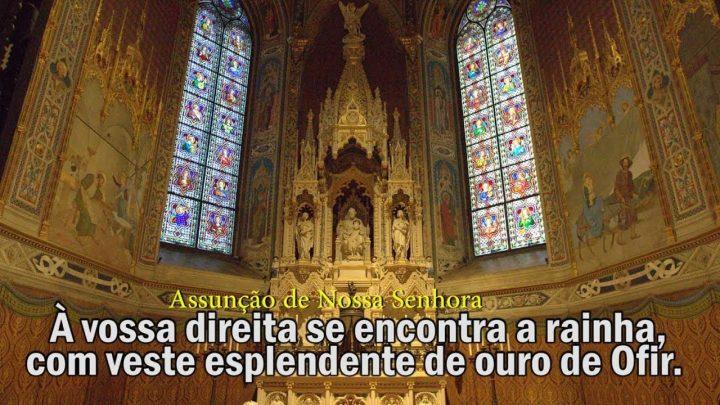 Salmos À vossa direita se encontra a rainha, com veste esplendente de ouro de Ofir   Arautos