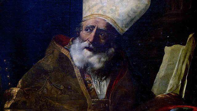 O mais importante da vida de Santo Ambrósio  não foram os livros que escreveu, mas foi ter convertido Santo Agostinho.