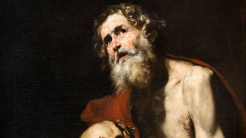 São Jerônimo o Santo que pode nos obter a virtude da fortaleza para batalharmos com denodo contra os nossos defeitos e os inimigos, velados ou declarados, da Igreja Católica.